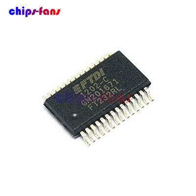 Original FTDI FT232 FT232RL USB TO SERIAL UART SSOP-28 IC CF