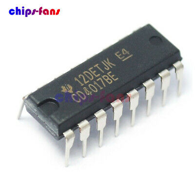 10Pcs CD4017 CD4017BE 4017 DECADE COUNTER DIVIDER IC CF