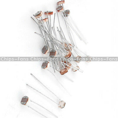 30PCS Photoresistor LDR CDS 5mm Light-Dependent Resistor Sensor GL5516 Arduino