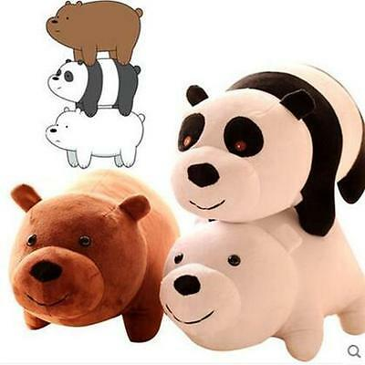 NEW TV Show We Bare Bears Plush Doll Toys Panda Grizzly Xmas Gifts Cute Plushie