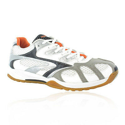 Hi-Tec AD Pro Elite Mens White Court Squash Sports Shoes Trainers Pumps
