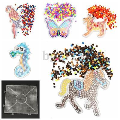Large Kid  Pegboards for Perler Bead / Hama Fuse Beads Clear Square Design Board