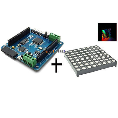LED RGB Matrix Module Driver Board 8x8 + Dot Matrix for Arduino AVR