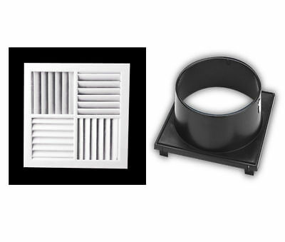 """4 Way Vent Multi-Directional Outlet 340Mm Aircon Heating&Cooling With 10"""" Adapto"""