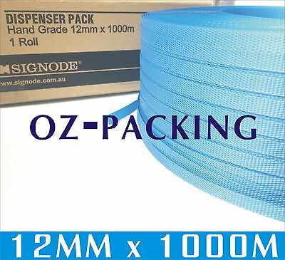 Pick Up Only ! 12mm x 1000m Blue Hand Poly Strap strapping polypropylene