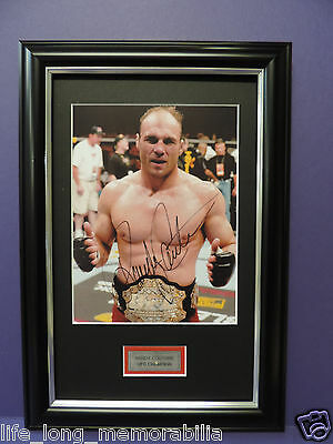 Randy Couture Ufc Champion Legend Signed Framed Photo