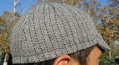 Cycling cap 4 PANEL wool  color Gray light  one size handmade