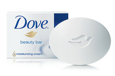 NEW 48 x DOVE SOAP BEAUTY CREAM BAR 100G MOISTURISING HAND FACE WASH SCRUB BULK