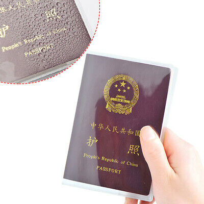 Clear Transparent Passport Cover, Holder Case Organizer ID Card Travel Protector