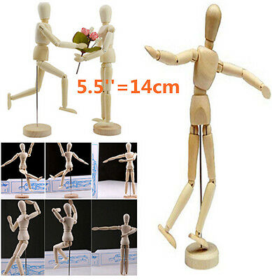 "Wooden Wood Figure 5.5"" Male Female Manikin Mannequin Human Artist Drawing Model"