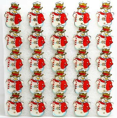 Lot Snowman Red Scarf LED Flashing Light Up Badge/Brooch Pins Christmas T037