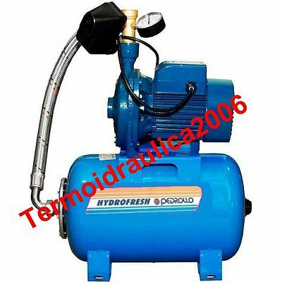 Centrifugal Water Pump Pressure Set 24Lt CPm158-24CL 1Hp 230V CP Pedrollo