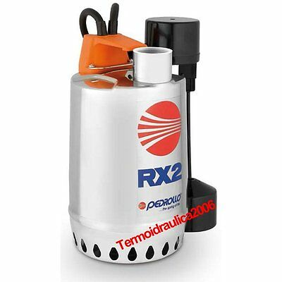 Submersible DRAINAGE Pump clear water RXm2GM 0,5Hp 230V 50Hz 5M RX Pedrollo