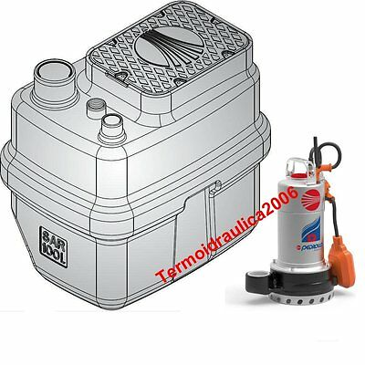 Storage Lifting Station SAR100 Clear Water Dm20N pump 1Hp D Pedrollo 230V 50Hz