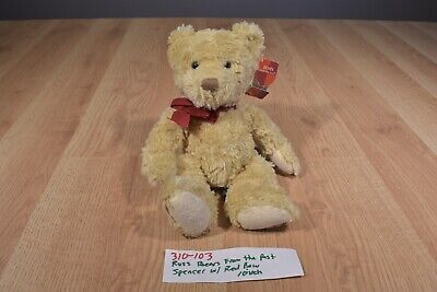 Russ Spencer Tan Bear with Red Bow (310-103)
