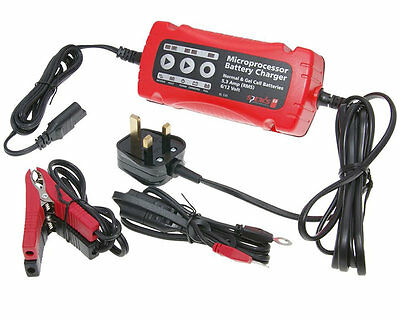 Pulse Rage 50cc LK50GY-2 6V/12V Microprocessor Battery Charger