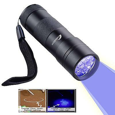 UV Black Light Pet Urine Detector For Cats And Dogs Stain Finder Flash Torch