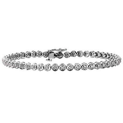 9ct White Gold Diamond Tennis Bracelet -  0.25ct