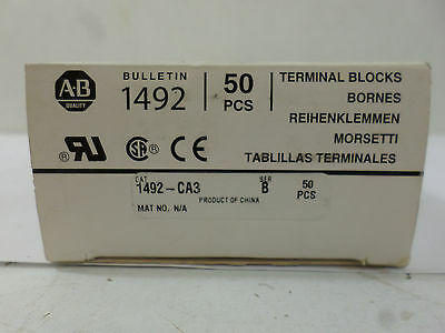 New Surplus Allen Bradley 1492-CA3 Ser B Terminal Blocks Box of 18