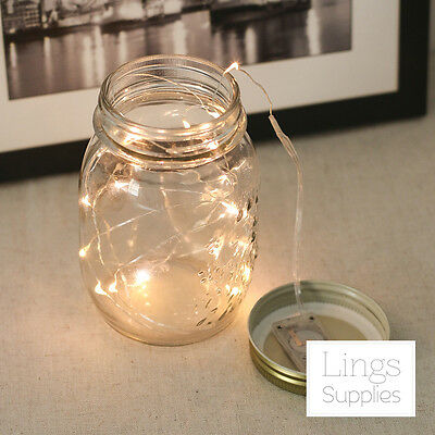 20 LED Fairy Lights with Battery Warm White Wedding Outdoor Indoor Party Decor