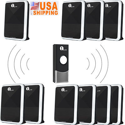 1Byone Wireless Battery-Opearated Door Bell Chime Waterproof Remote Control LED