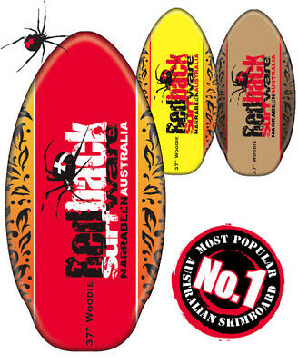 Redback Original Skimboard (37 Or 41 Inches) - Red, Yellow Or Brown Available