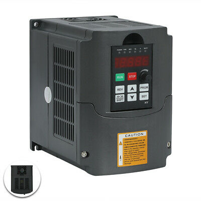 4KW 5HP VARIABLE FREQUENCY DRIVE 220V ±15% INVERTER VFD SINGLE To THREE PHASE