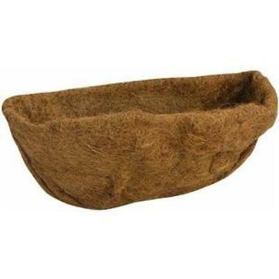 "Gardman R587 Wall Basket / Manger Shaped Coco Liner, 7"" Wide X 16"" Long X 7"" Hi"