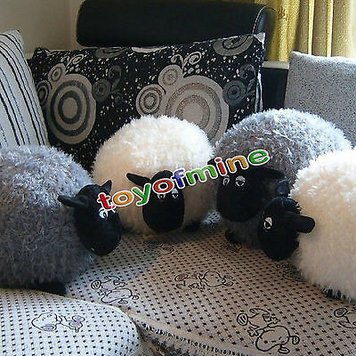 12inch/30cm Cute Soft Plush Sheep Character Kids Baby Toy Gift Doll White/Gray!