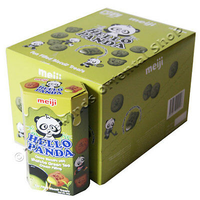 Hello Panda Matcha Green Tea Flavour Cream Filling Biscuits - 10 X 50G