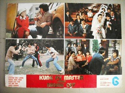 Kung Fu Master Named Drunk Cat Martail Arts Chinese Lobby Card 70s