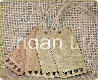 Wholesale 20 x Hand Painted Wooden Gift Tags Pack x 4 Design 1