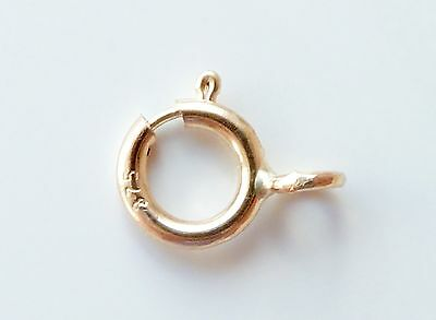 9ct Yellow Gold Bolt Ring 5mm Open or Closed for Chains or Bracelets Findings