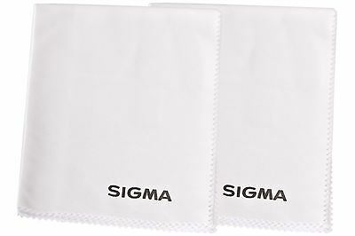 Sigma Large White Microfibre Lens Cleaning Cloth (x2) Lenses/Digital Camera/DSLR