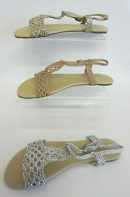 Spot On F0R549 Ladies Sandals Silver, Gold Or Nude Sandals (R21A)