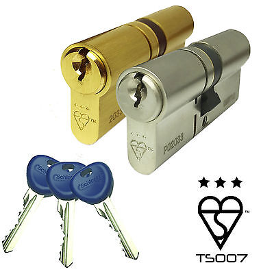 Ultimate Pro 3 Star TS007 High Security Euro Cylinder UPVC Door Anti Snap Lock