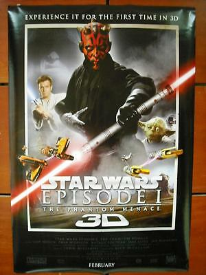 STAR WARS EPISODE 1 THE PHANTOM MENACE MOVIE POSTER ROLLED DS INT 27x40 ORG 2012