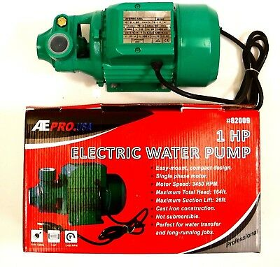 1 H.P. Electric Water Removal Pump Heavy Duty Transfer Pump