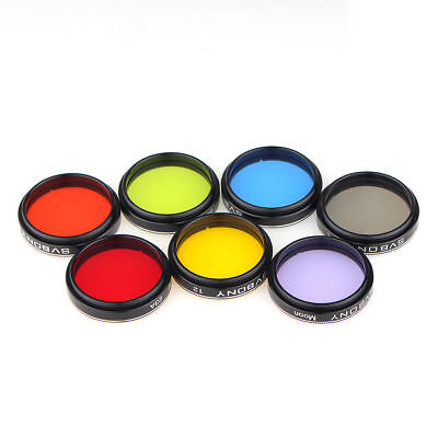 New 1.25'' Set of 4 Color Eyepiece Color Filter for Astrophotography Telescope