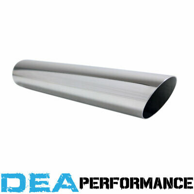 """Exhaust Tip Angle Cut Stainless Steel Outlet 2 1/8'' Inlet 2"""" Length 12''"""
