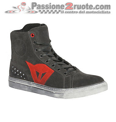 Scarpe Dainese Street Biker Air Carbone Rosso Moto Shoes