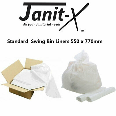 Janit-X White 40L Bin Liners Refuse Bags Paper Swing  (Box of 1000)
