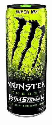 Monster Energy Extra Strength Super Dry 12 Ounce (Pack of 12)