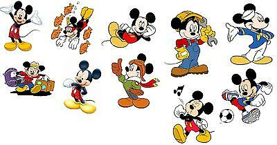10 Mickey Mouse  Vinyl Wall Stickers 3 Sizes A6 A5 A4