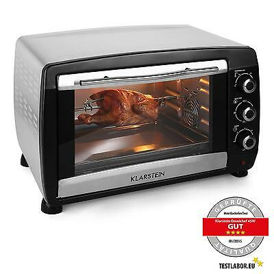 Klarstein Small Oven Convection Grill Microwave Kitchen Rotisserie * Free P&p*