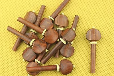 50pcs new high quality rose wood violin tuning pegs 4/4 full size accessories