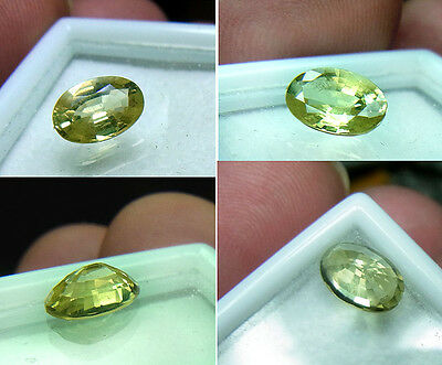 Top-gelber Chrysoberyll-Oval-Cut, 1,35 ct, VVS