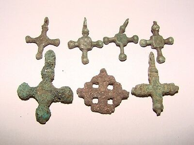 Ancient Bronze Crosses Kievan Rus 7 pieces original