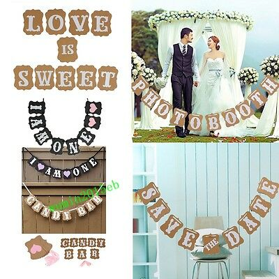 Baby Shower Bunting Banner Wedding Party Garland Photo Props Hanging Decor Sign