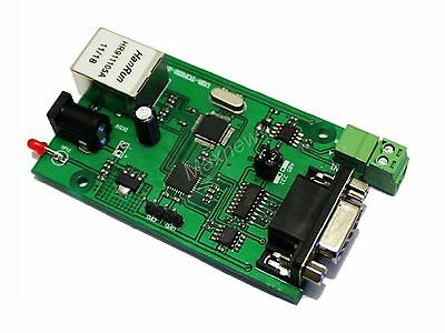 New RS232 RS485 Serial to TCP/IP Ethernet Server Module Bi-directional Converter